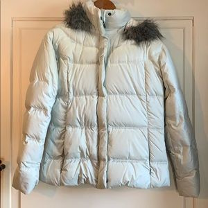 Quilted white jacket